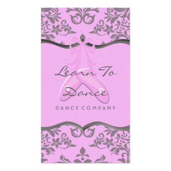 A Sweet Array Of Pink and Gray Business Card