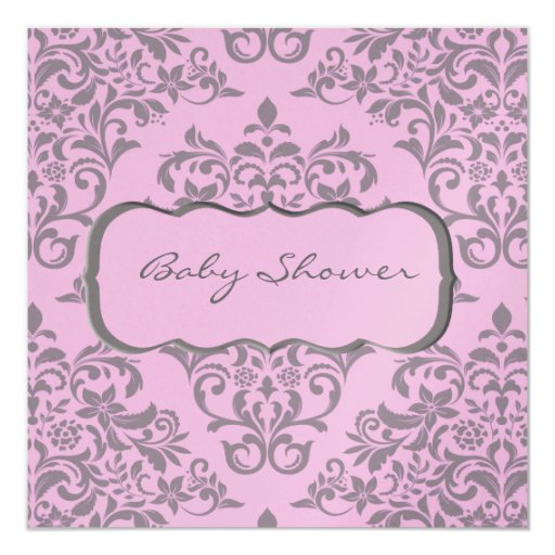 A Sweet Array of Pink and Gray Card
