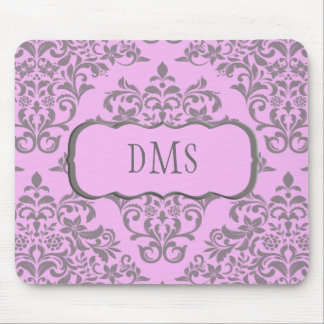 A Sweet Array of Pink and Gray Mousepad