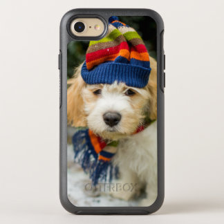 A Sweet Cavachon Puppy In A Winter Hat And Scarf OtterBox Symmetry iPhone 7 Case