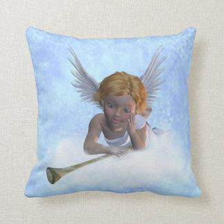 A sweet cherubic angel throw pillow