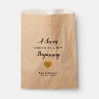 A Sweet Ending to a New Beginning Favor Treat Bags