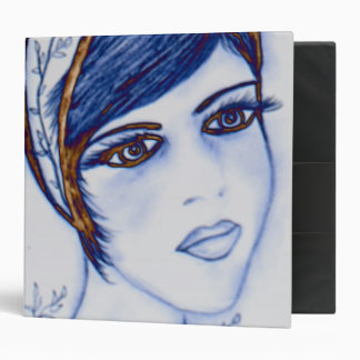 A Sweet Flapper in Blues and Brown Binder