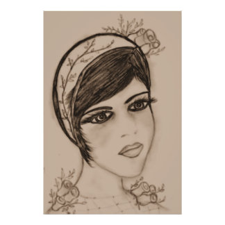 A Sweet Flapper in Sepia Poster