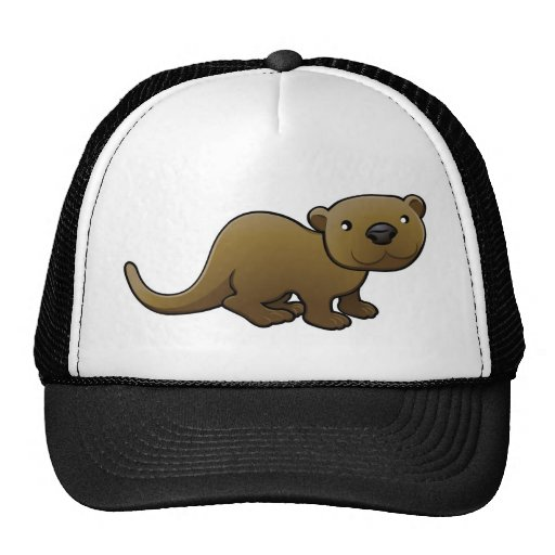 A sweet friendly otter hats