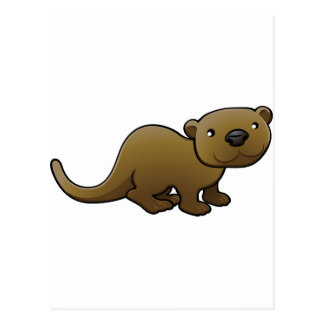 A sweet friendly otter post cards