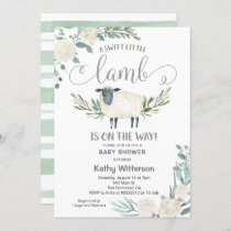 A Sweet Little Lamb is on the way Baby Shower Invitation