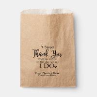 A Sweet Thank You Favor Bags, Wedding Favors Favor Bag