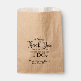 A Sweet Thank You Favor Bags, Wedding Favors Favor Bag
