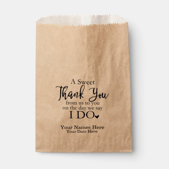 A Sweet Thank You Favor Bags Wedding Favors Bag