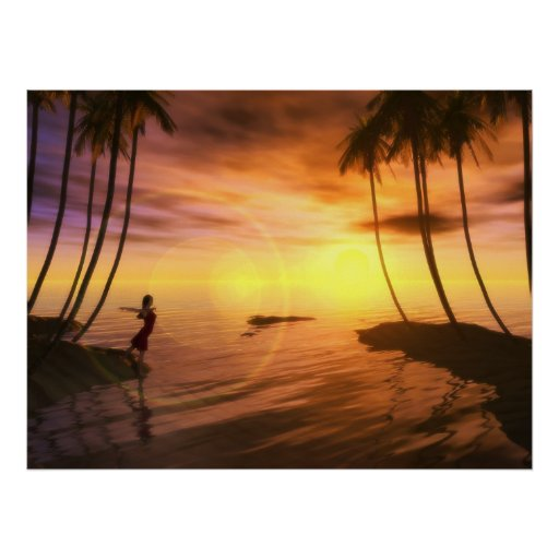 A Swim at Sunrise Poster