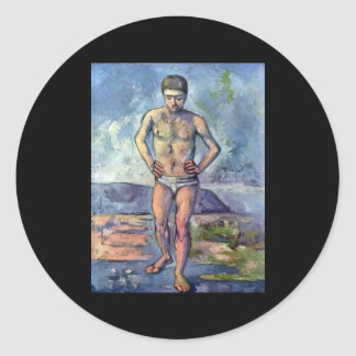 A Swimmer by Cezanne Classic Round Sticker