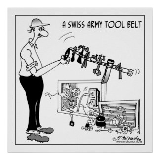A Swiss Army Tool Belt Poster