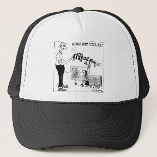 A Swiss Army Tool Belt Trucker Hat