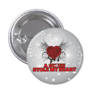 A Swiss Stole my Heart Pinback Button