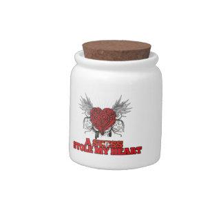 A Swiss Stole my Heart Candy Jar