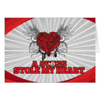 A Swiss Stole my Heart Stationery Note Card