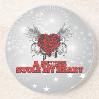 A Swiss Stole my Heart Coaster