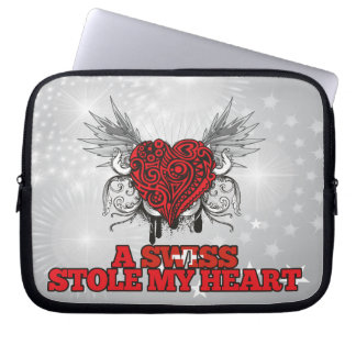 A Swiss Stole my Heart Laptop Computer Sleeve