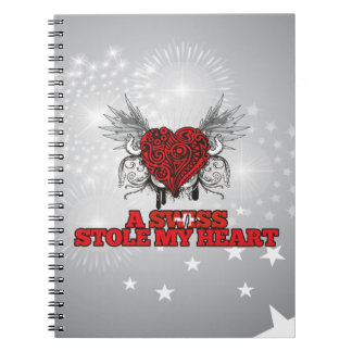 A Swiss Stole my Heart Spiral Note Book