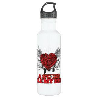 A Swiss Stole my Heart 24oz Water Bottle