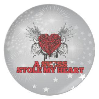 A Swiss Stole my Heart Dinner Plate