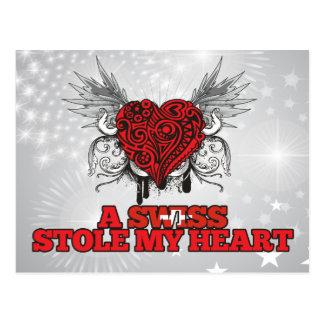 A Swiss Stole my Heart Postcard
