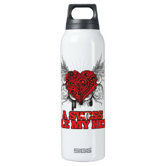 A Swiss Stole my Heart 16 Oz Insulated SIGG Thermos Water Bottle