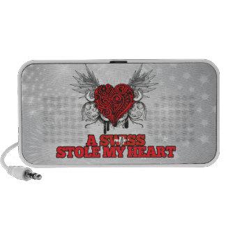 A Swiss Stole my Heart iPod Speakers