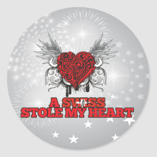 A Swiss Stole my Heart Classic Round Sticker