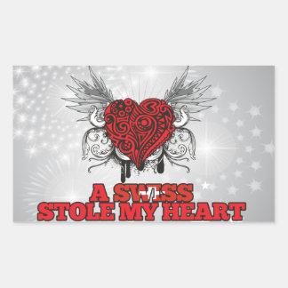 A Swiss Stole my Heart Rectangular Sticker