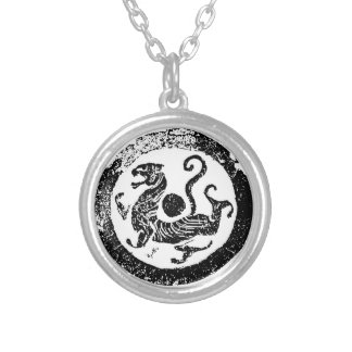 A Symbol of Chinese constellations Silver Plated Necklace