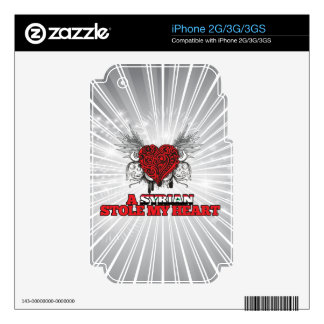 A Syrian Stole my Heart iPhone 2G Skins