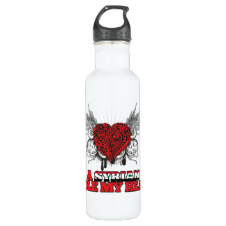 A Syrian Stole my Heart Water Bottle