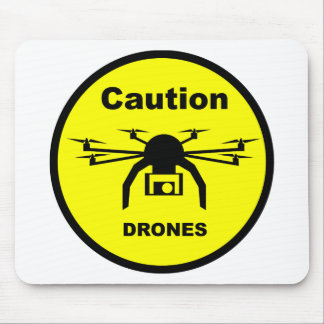 A T-Shirt design featuring a Drone Mouse Pad