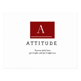 A T T I T U D E, Success starts herege... Postcard
