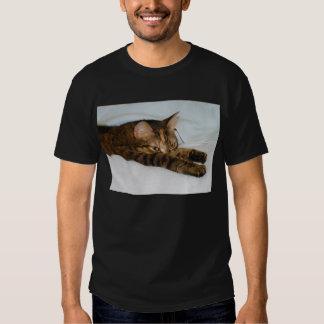 A Tabby Cat Stretching Felis Silvestris Catus Shirt
