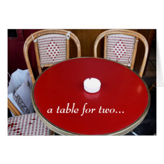 a table for two... card