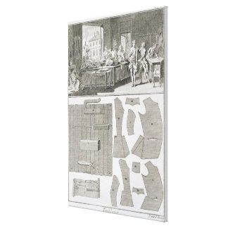 A tailor's workshop and patterns, from the 'Encycl Canvas Print