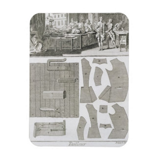 A tailor's workshop and patterns, from the 'Encycl Rectangular Photo Magnet