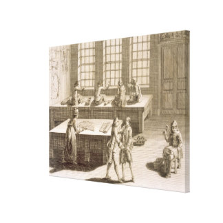A tailor's workshop, from the 'Encyclopedie des Sc Canvas Print