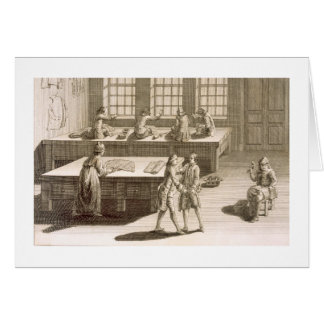 A tailor's workshop, from the 'Encyclopedie des Sc Card