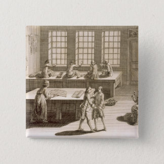 A tailor's workshop, from the 'Encyclopedie des Sc Pinback Button