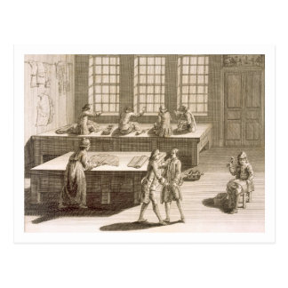 A tailor's workshop, from the 'Encyclopedie des Sc Postcard