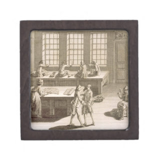 A tailor's workshop, from the 'Encyclopedie des Sc Premium Keepsake Boxes
