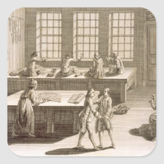 A tailor's workshop, from the 'Encyclopedie des Sc Square Sticker