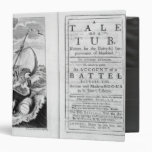 'A Tale of a Tub' 3 Ring Binder