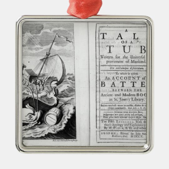 'A Tale of a Tub' Metal Ornament