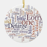 A Tale of Two Cities Double-Sided Ceramic Round Christmas Ornament