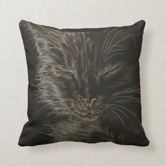 a Tale of Two Kittys Throw Pillow